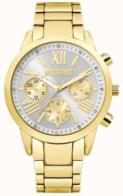 Missguided | Ladies Gold Chronograph Watch | MG008GM