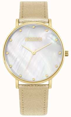 Missguided | Ladies Gold Leather Strap | MG014GG