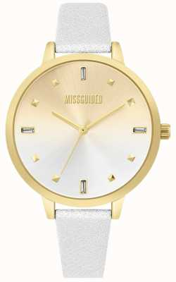 Missguided | Ladies White Leather Strap | Two Tone Dial | MG020SG