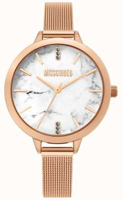 Missguided | Ladies Rose Gold Mesh Watch | MG011RGM