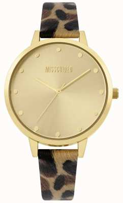 Missguided | Ladies Leopard Print Strap | Gold Case And Dial | MG003BRG