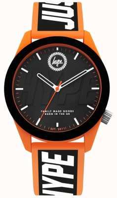 Hype | Mens Watch | Orange And Black Silicone Strap | HYG018BO