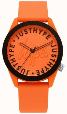 Hype | Mens Watch | Orange Silicone Strap | Orange Dial | HYU023O