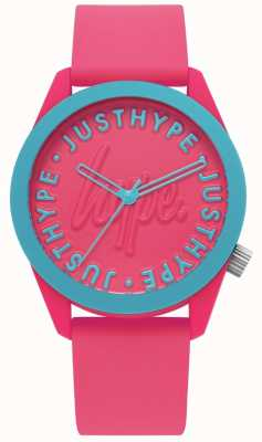 Hype | Ladies Watch | Silicone Strap Bright Pink | HYL023P