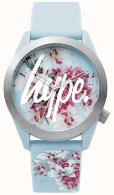 Hype | Ladies Watch | Blue Silicone Strap | Floral Dial | HYL022US