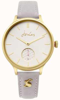 Joules | Women's Grey Leather Strap | Gold Case | JSL014EG