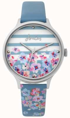 Joules | Ladies Watch | Pale Blue Floral Print Strap | JSL015US