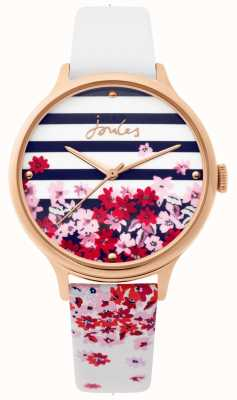 Joules | Ladies Watch | White Leather Floral Strap | JSL015WRG