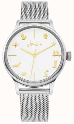 Joules | Ladies Watch | Silver Mesh Strap | White Dial | JSL011SM
