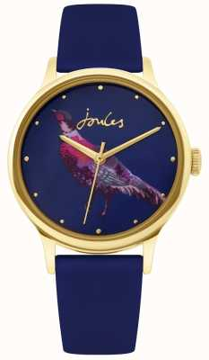 Joules | Ladies Navy Silicone Strap | Pheasant Dial | JSL010UG