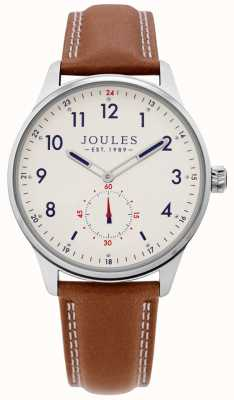 Joules | Mens Harrow Watch | Tan Leather Strap | JSG008T