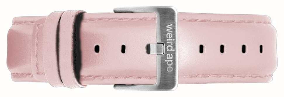 Weird Ape | 16mm Pastel Pink Leather Strap Only Silver Steel Buckle ST01-000053