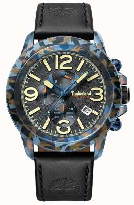 Timberland | Mens Ashbrook | Black Leather Strap | Black Dial | 15474JSBL/61
