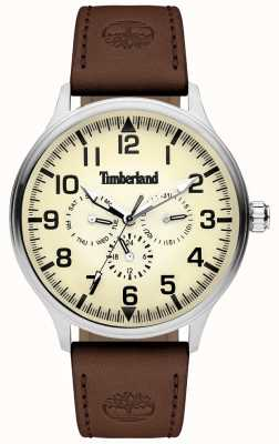 Timberland | Mens Blanchard | Brown Leather Strap | Cream Dial | 15270JS/14