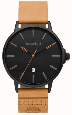 Timberland | Mens Rollinsford | Tan Leather Strap | Black Dial | 15637JYB/02