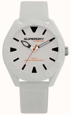 Superdry | Osaka | Matt White Dial | Textured White Strap SYG243W