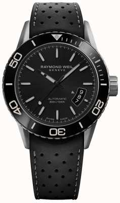 Raymond Weil | Mens Freelancer | Black Rubber Strap | Ex-Display Item | 2760-TR1-20001-EXDISPLAY