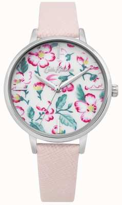 Cath Kidston | Womens Climbing Blossom Watch | Pink Leather | Floral Dial CKL069P