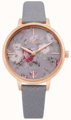 Cath Kidston | Womens Brampton Bunch Watch| Grey Leather Strap | CKL069ERG
