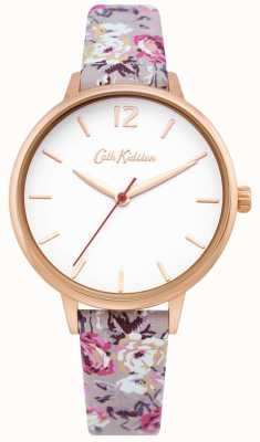 Cath Kidston | Womens Garden Watch| White Dial | Floral Leather Strap | CKL067ERG