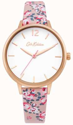 Cath Kidston | Womens Hampton Watch | Floral Leather Strap | White Dial | CKL067PRG