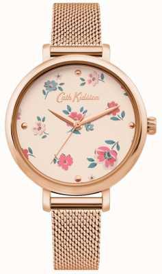 Cath Kidston | Womens Brampton Ditsy Watch| Rose Gold Mesh Bracelet | CKL079RGM