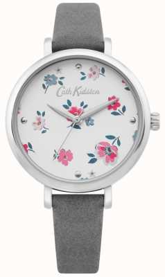Cath Kidston | Womens Brampton Ditsy Watch | Grey Leather Strap | CKL079E