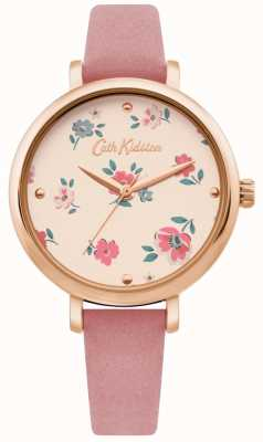 Cath Kidston | Womens Brampton Ditsy Watch | Pink Leather Strap | CKL079PRG
