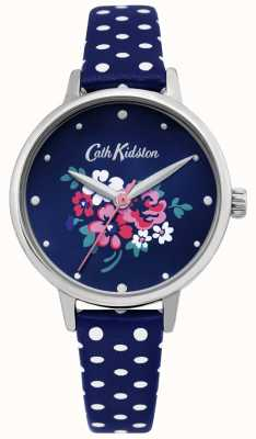 Cath Kidston | Womens Lucky Bunch Watch | Polka Dot Blue Leather | CKL070U