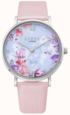 Lipsy | Womens Pale Pink Leather Strap | Floral Dial | LP656