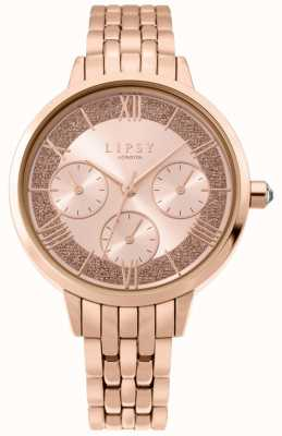 Lipsy | Womens Rose Gold Stainless Steel | Rose Gold Dial | LP636