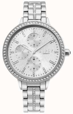 Lipsy | Womens Silver Stainless Steel Bracelet | Silver Dial | LP629