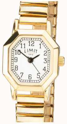 Limit | Womens Gold Tone Expandable Bracelet | White Dial | 6498