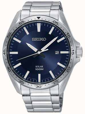 Seiko Men's Solar Stainless Steel Blue Dial SNE483P1