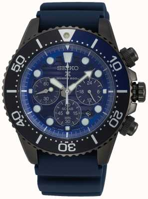 Seiko Men's Solar Save The Ocean Black Series Special Edition SSC701P1