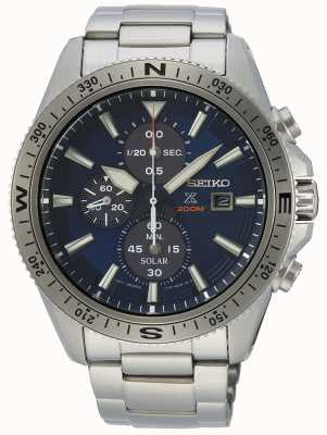 Seiko Men's Prospex Stainless Steel Solar Chronograph SSC703P1