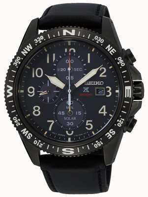 Seiko Men's Prospex Solar Chronograph Leather Strap SSC707P1