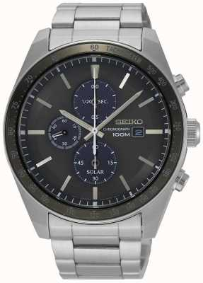 Seiko Men's Solar Chronograph Stainless Steel SSC715P1