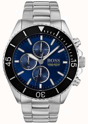 Hugo Boss | Mens Ocean Edition | Silver Stainless Steel | Blue Dial | 1513704