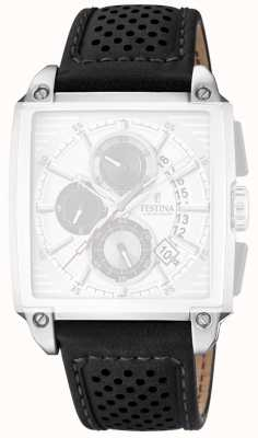 Festina Black Leather Perforated Strap Only F20265/1/STRAP