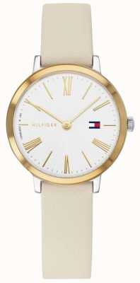 Tommy Hilfiger Project Z | Beige Leather Strap | White Dial 1782051