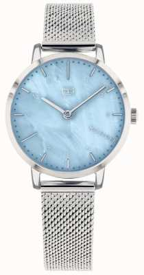 Tommy Hilfiger | Womens Lily Watch| Stainless Steel Mesh | Blue Dial | 1782041