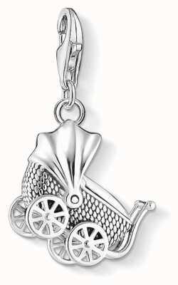 Thomas Sabo | Vintage Pram Charm | 925 Blackened Sterling Silver | 1693-637-21