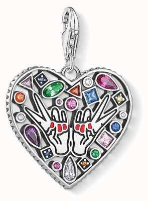 Thomas Sabo | Love & Peace Charm | Sterling Silver | Multi-colour Stones 1745-314-7