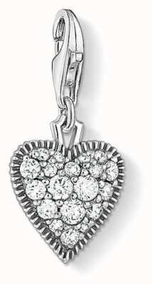 Thomas Sabo | Vintage Heart Charm | Sterling Silver | Blackened Zirconia 1747-643-14