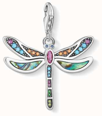 Thomas Sabo | Dragonfly Charm | Blackened Sterling Silver | MOP Stone | 1757-964-7