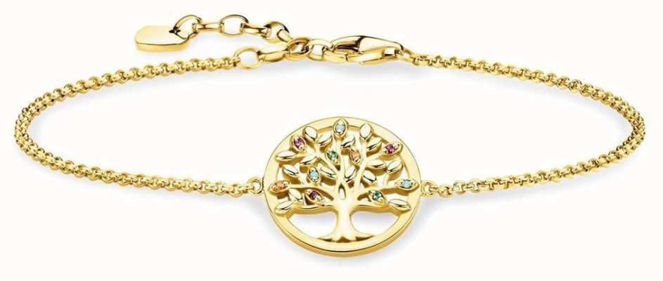 Thomas Sabo | Tree Of Life Gold Plated Sterling Silver Bracelet | A1868-488-7-L19V