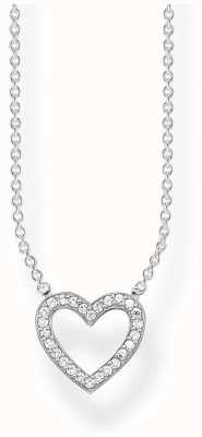 Thomas Sabo | Sterling Silver Open Heart Necklace |Cubic Zirconia | KE1554-051-14-L45V
