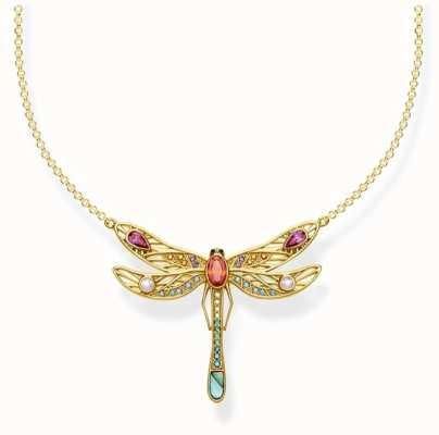 Thomas Sabo | Sterling Silver Multi Stone Dragonfly Necklace | KE1838-988-7-L45V