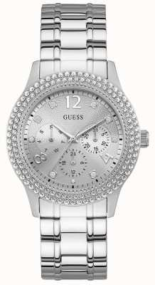 Guess | Womens Bedazzle | Stainless Steel Bracelet | Silver Dial | W1097L1
